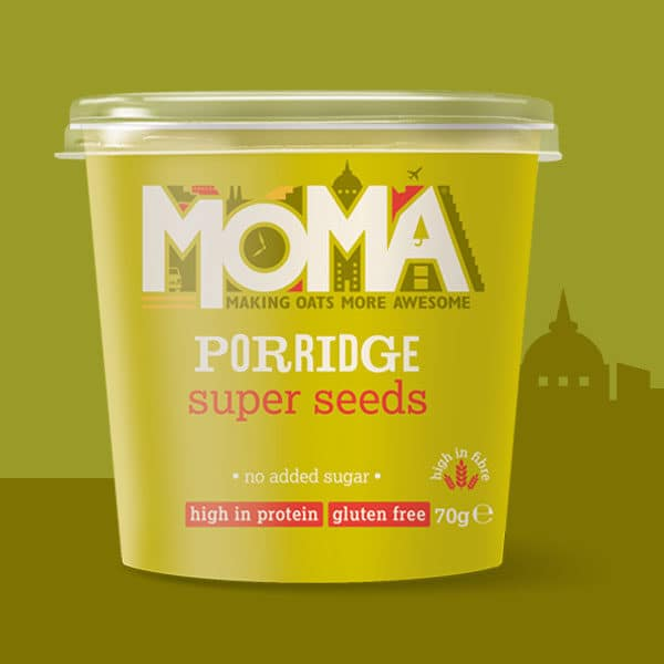 yellow MOMA porridge product picture super seeds
