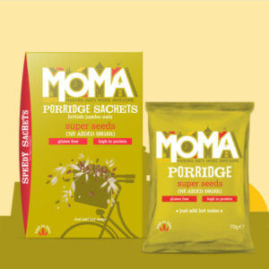 Product photo featuring Super seeds porridge sachets
