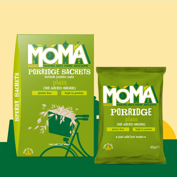 Product photo featuring Plain No added Sugar Porridge Sachets