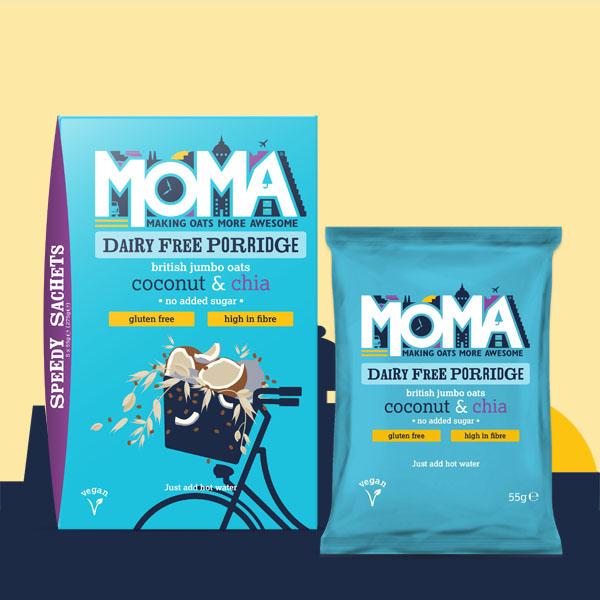 Produktfoto mit veganer Kokosnuss und Chia