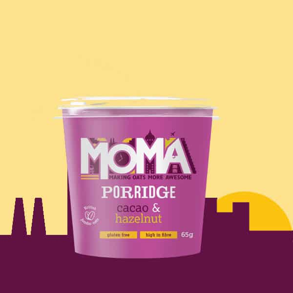 New purple Cacao & hazelnut MOMA porridge